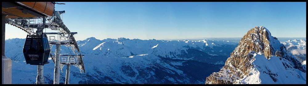 het skigebied van Méribel