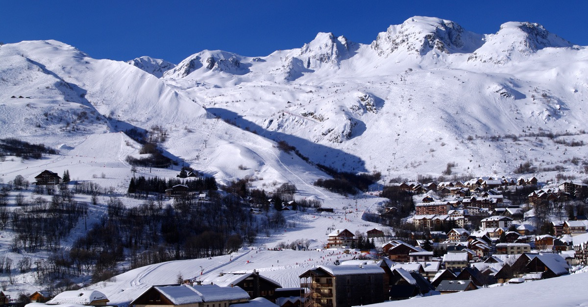 skiresort Saint Sorlin d'Arves in Les Sybelles